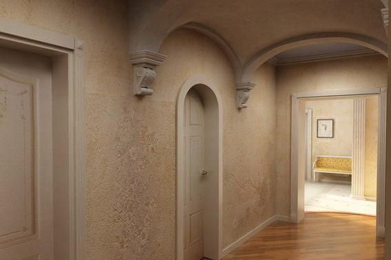 Вот такими неординарными могут быть арки в коридоре