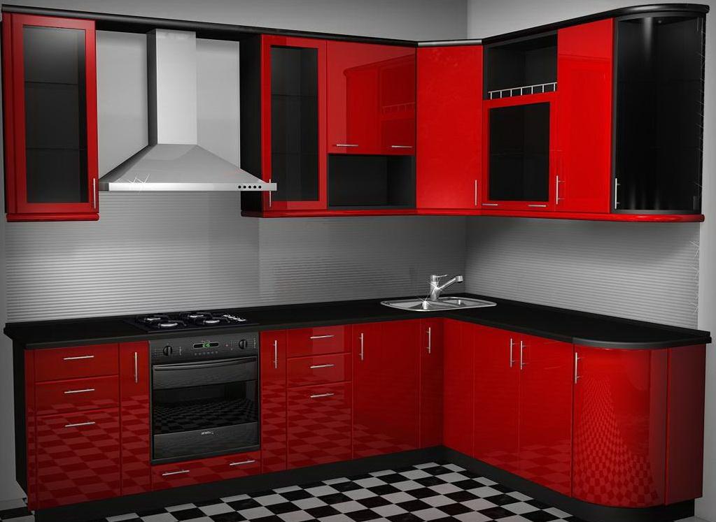 Кухня в красно-черных цветах
