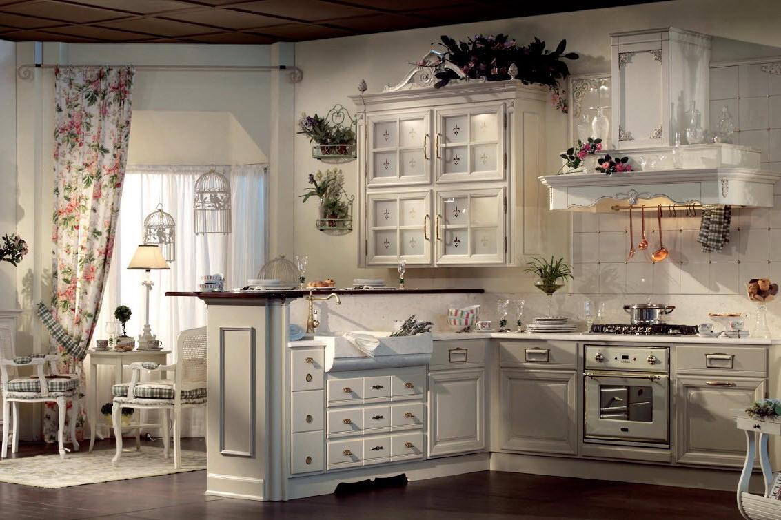 Таким должен быть интерьер настоящей кухни прованс.