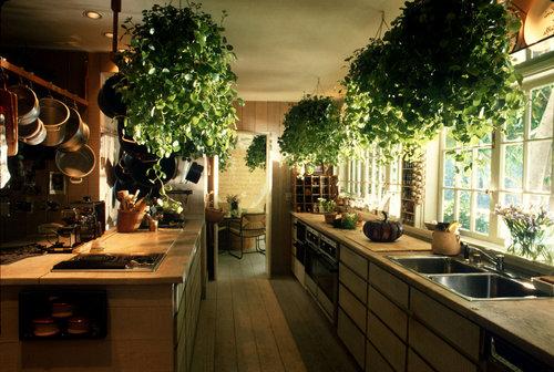 Деревенский стиль кухни подходит для расположения на юге.