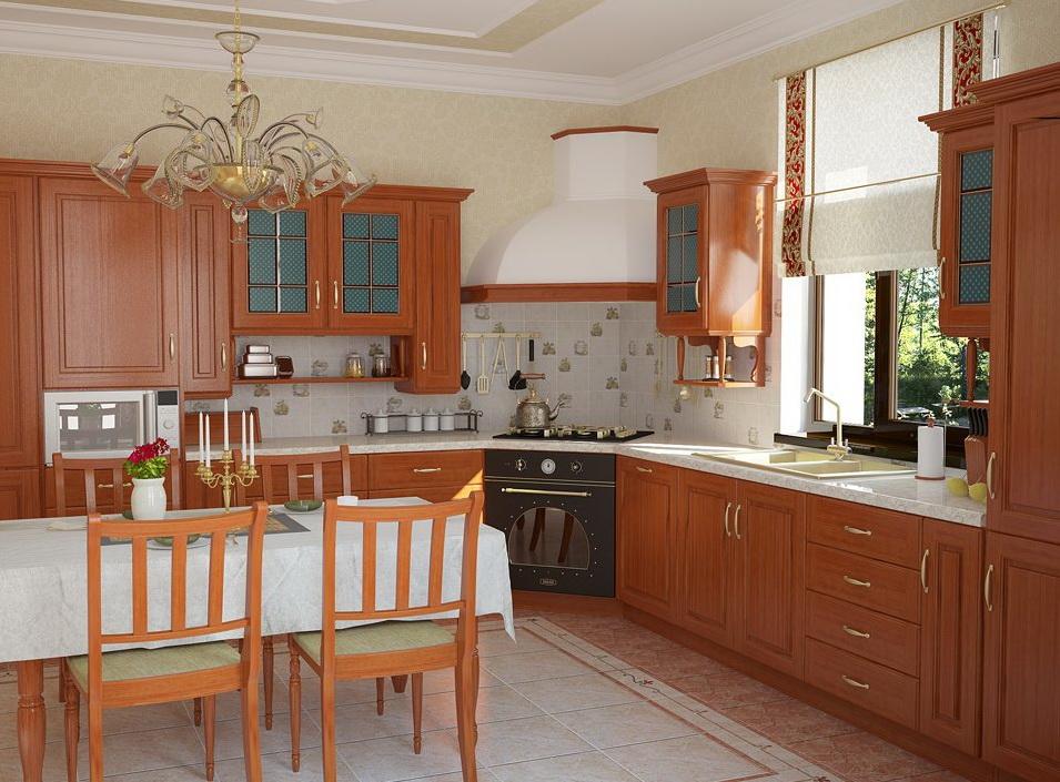 Один из вариантов расположения плиты на кухне