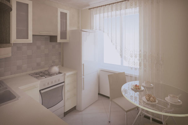 Использование светлого цвета в отделке позволит визуально расширить помещение.