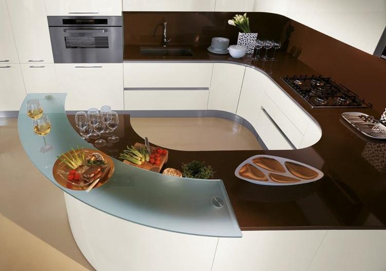 Формы кухни в стиле модерн могут быть разнообразными