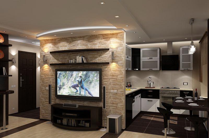 Дизайн гостиной в хрущевке: проходная гостиная, интерьер