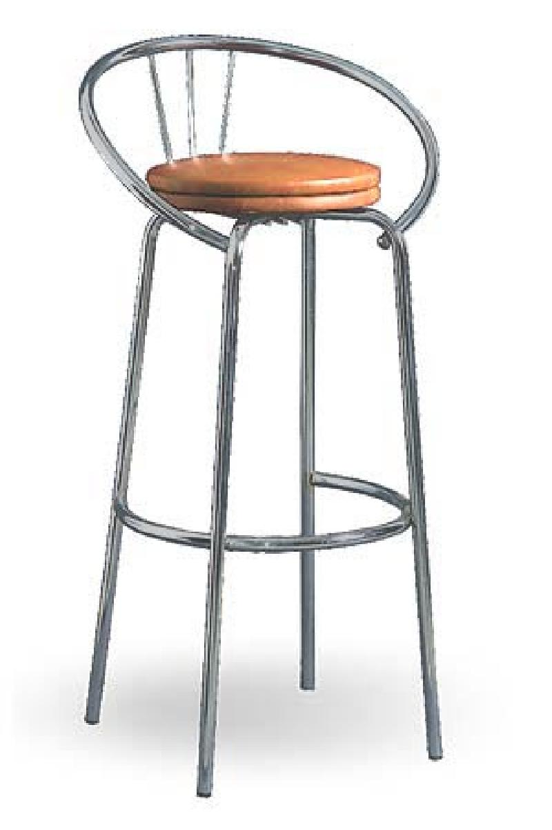 Барный стул на металлическом каркасе