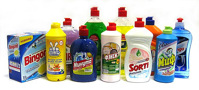 Современные моющие средства разннобразны
