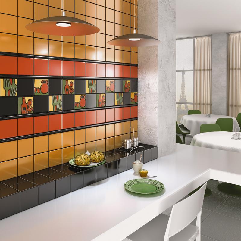 Плитка на кухне смотрится просто замечательно