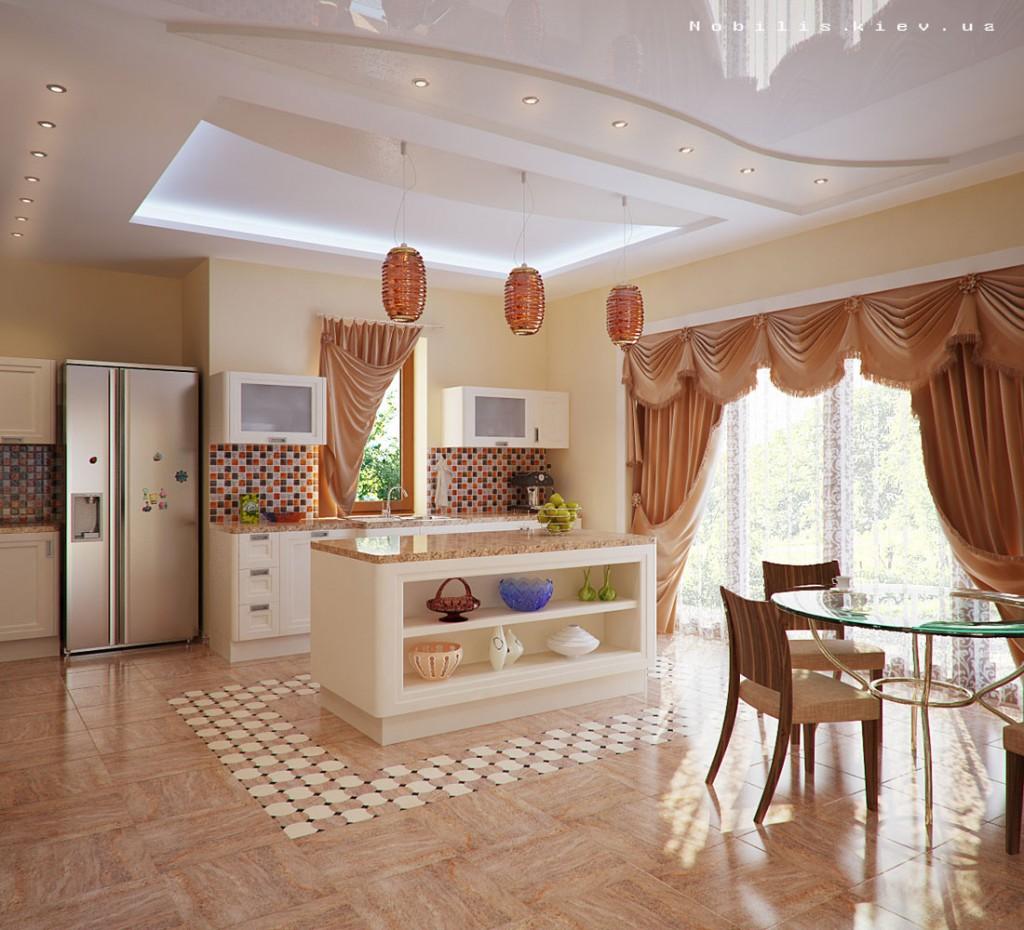 Интерьер кухни в частном доме своими руками