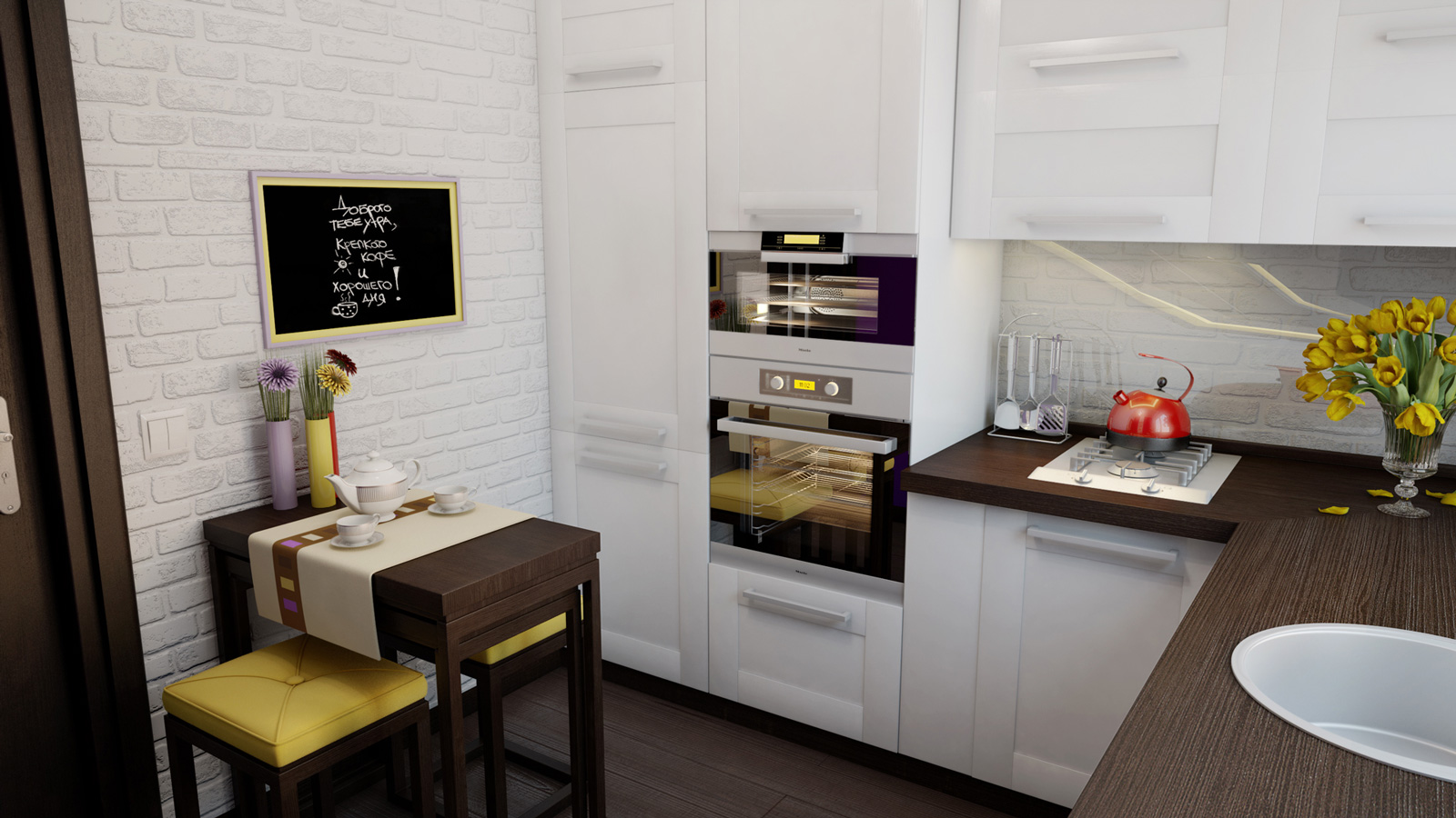 Дизайн маленькой кухни 6 кв м 2015 современные идеи