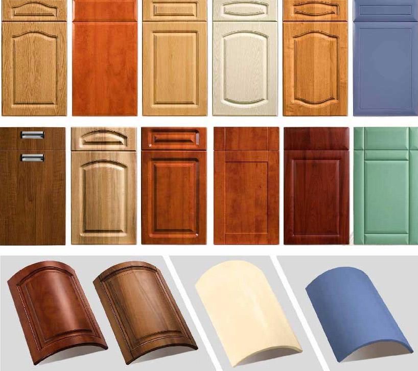 Фасады МДФ могут быть разных форм и размеров
