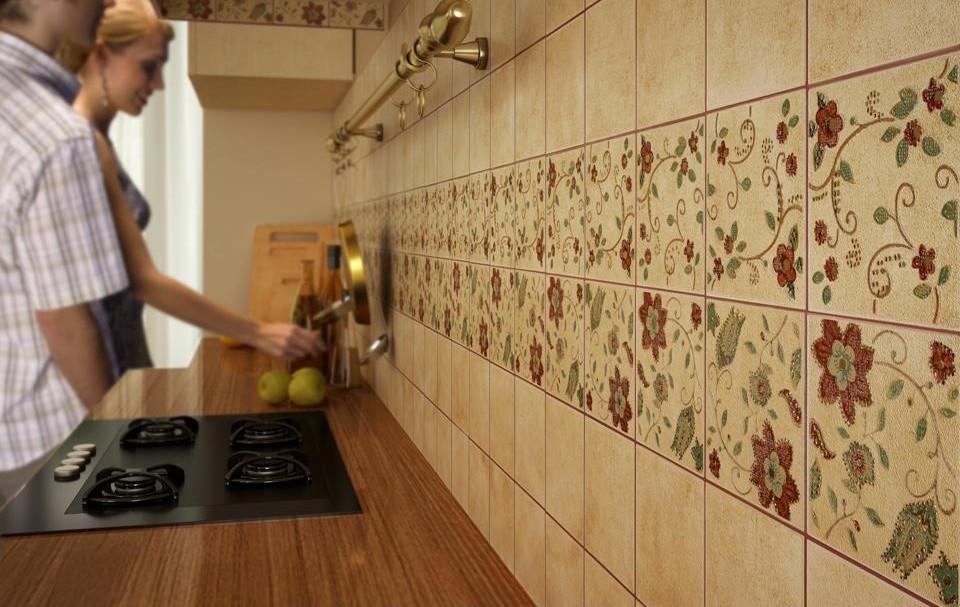 Плитка может содержать различные узоры