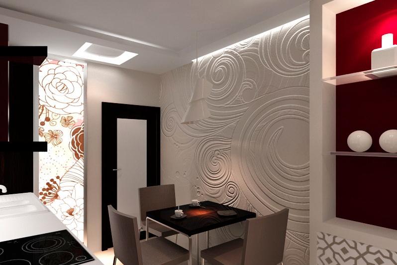 Декоративные узоры на стене