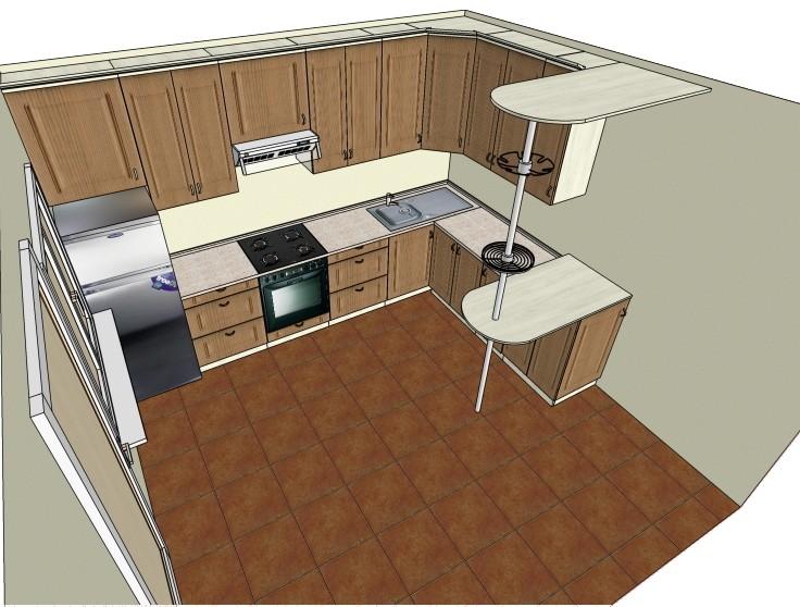 Главное на кухне простор и удобство