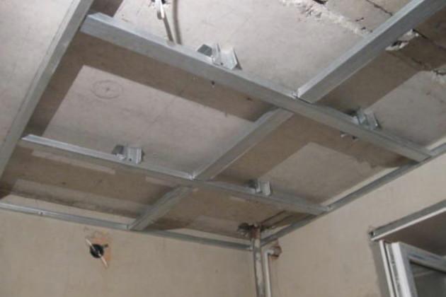 Как сделать навесной потолок своими руками видео на кухне