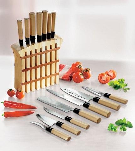 Набор японских ножей украсит любую кухню