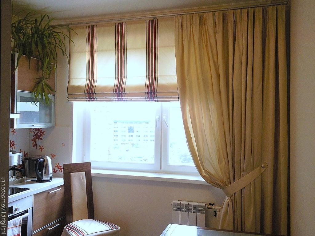 Окно на кухне дизайн шторы
