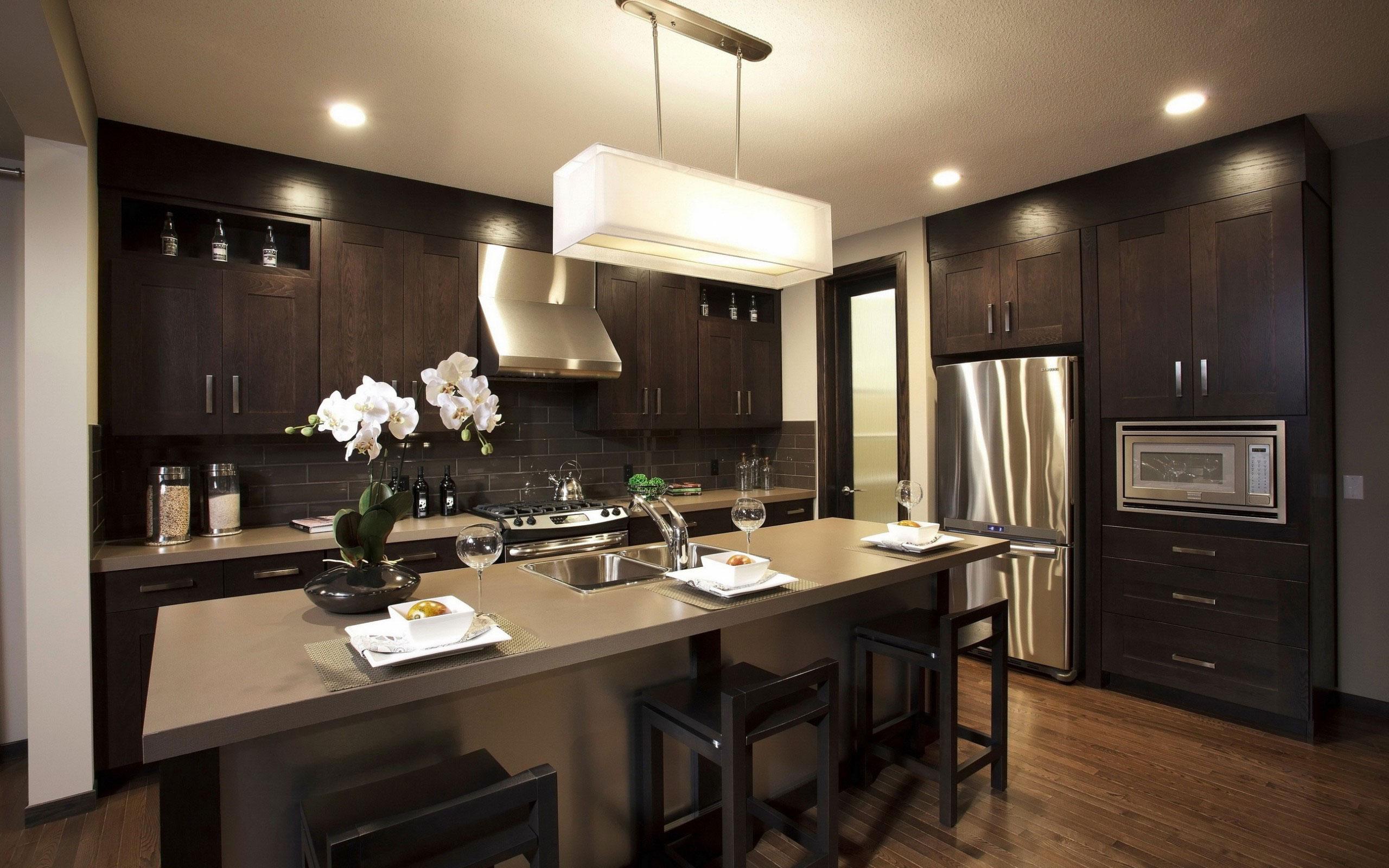 Небольшая кухня гостиная фото