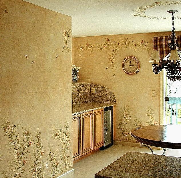 Декор на стены своими руками на кухне 49