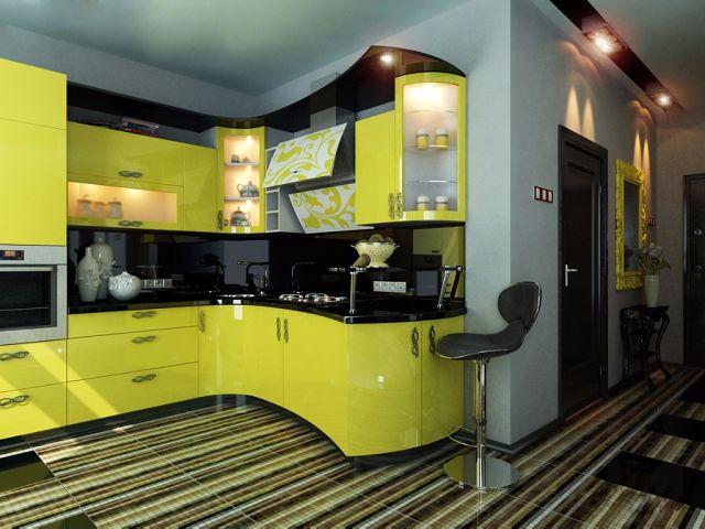 Объединение кухни и гостиной смелый шаг, позволяющий визуально расширить пространство.