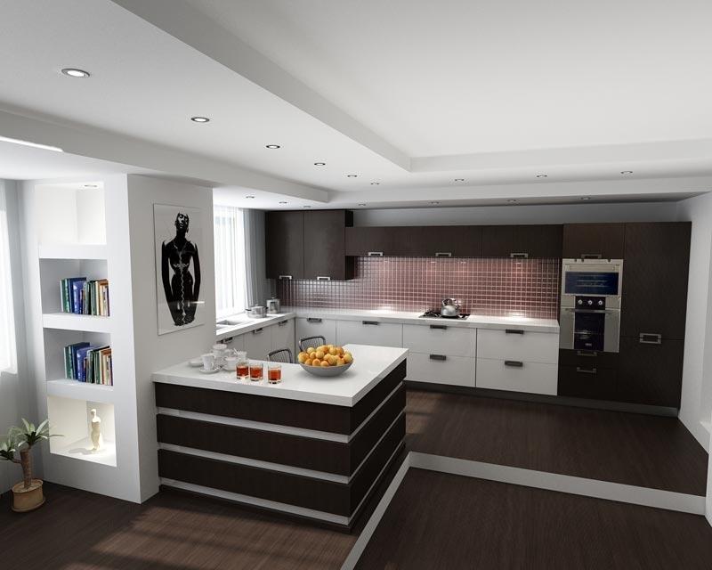 Объединяя кухню и гостиную в итоге получаем функциональное большое помещение