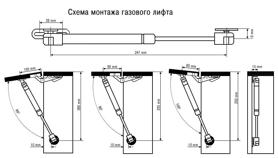 Схема монтажа газлифта