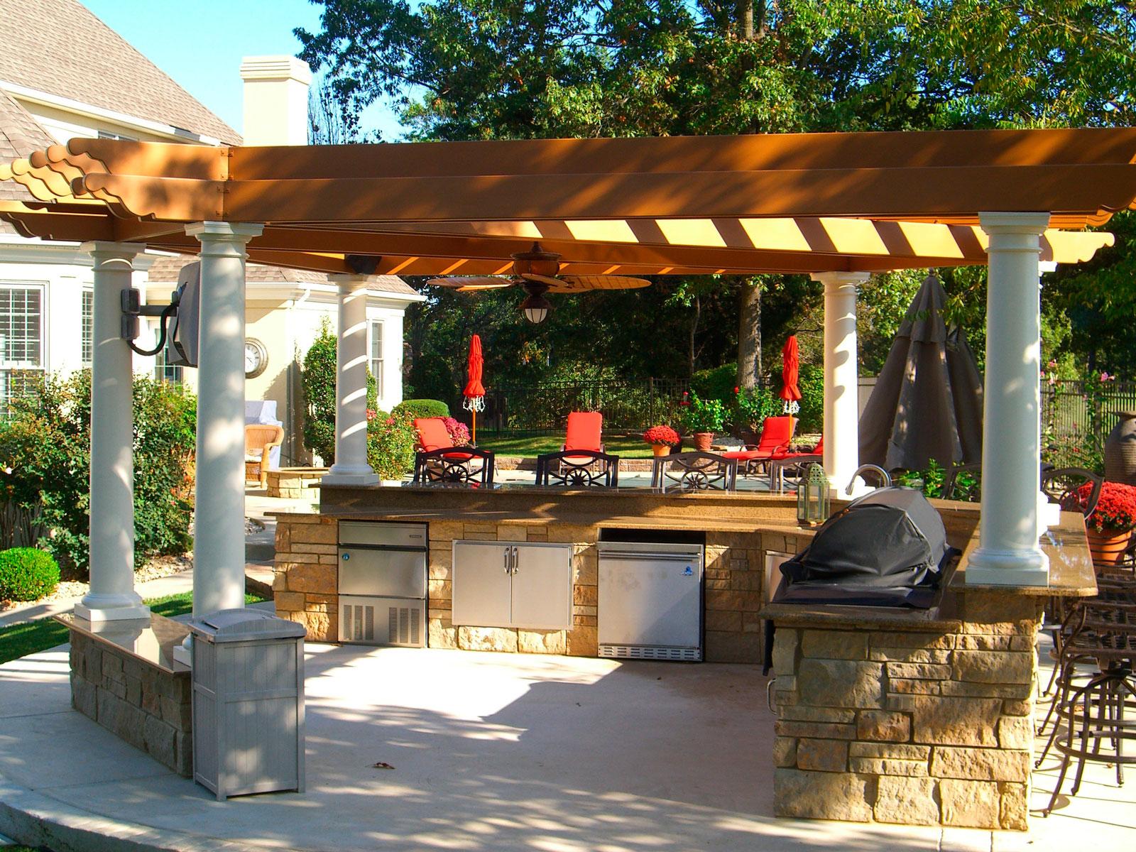 Летняя кухня веранда