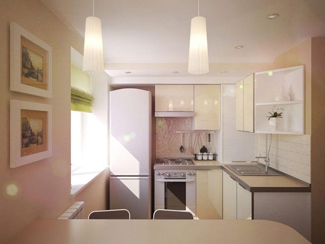 Современные материалы могут создать неповторимый дизайн в кухни.