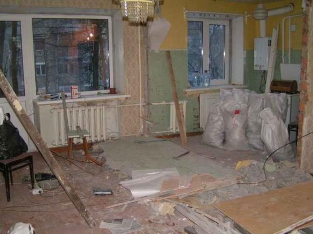 Прежде чем, начать ремонт, необходимо демонтировать старое оборудование.