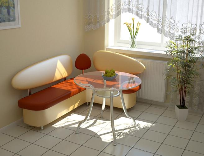 Угловой диван на кухню из кожи сохранить прекрасный вид на протяжении многих лет