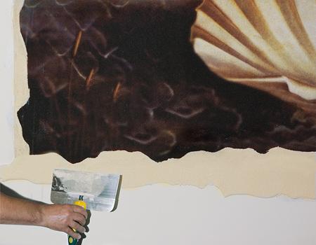 Закрепить фреску на поверхности можно самостоятельно