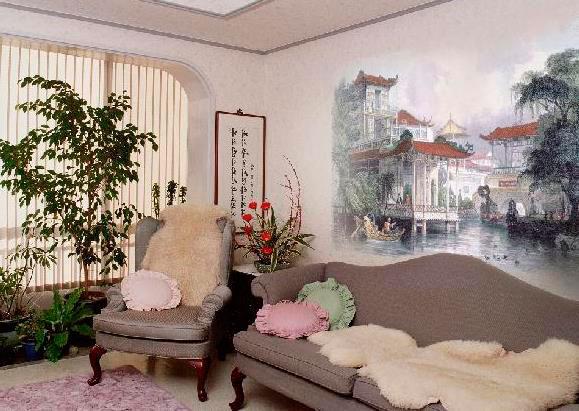 Фреска на гибкой штукатурке является практичным и долговечным вариантом