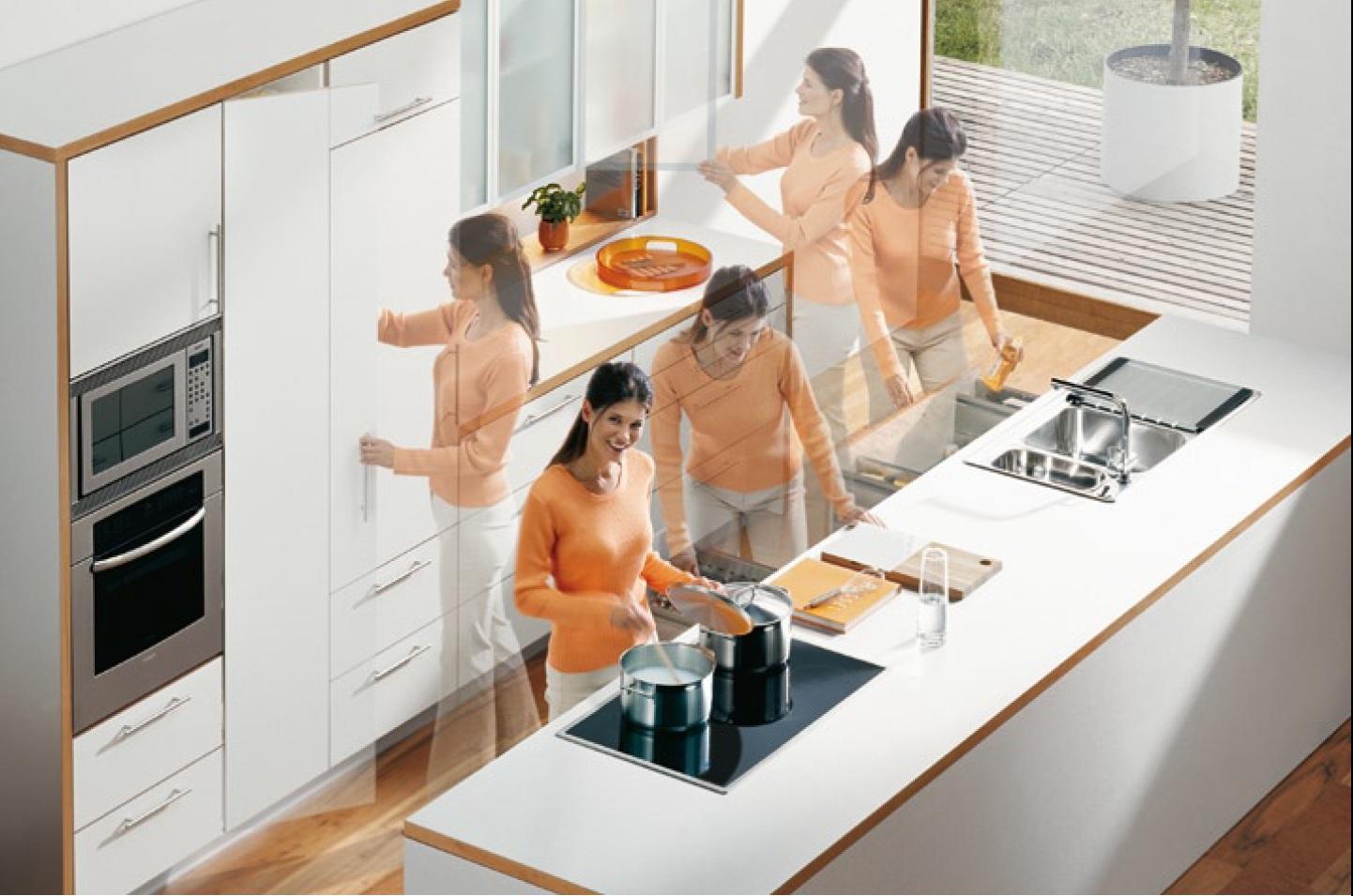 Продуманная эргономика кухни позволяет нам экономить время и силы.