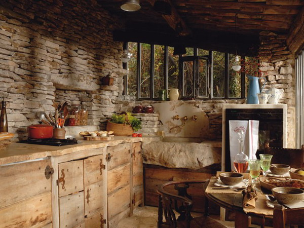 Стиль Шале на кухне