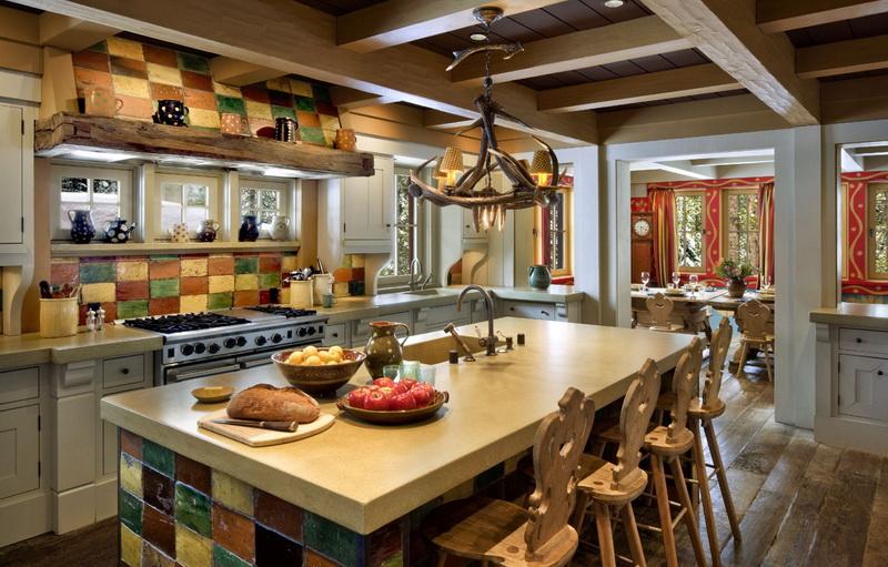 Благодаря максимальной простоте и незамысловатости оформления создается уютная атмосфера кухни.
