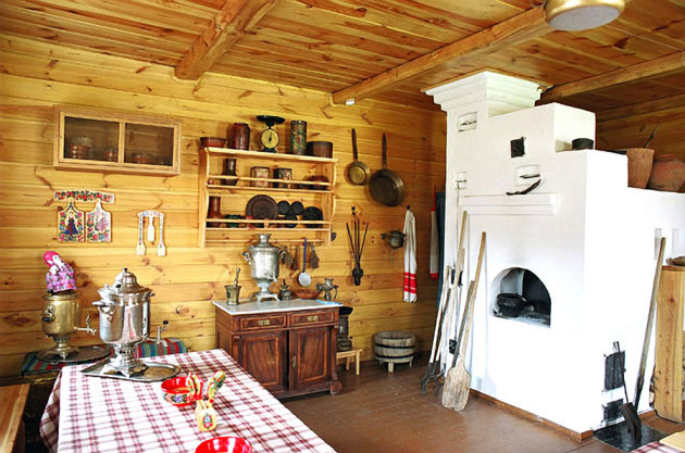 Кухня в деревянном доме (45 фото видео-инструкция)