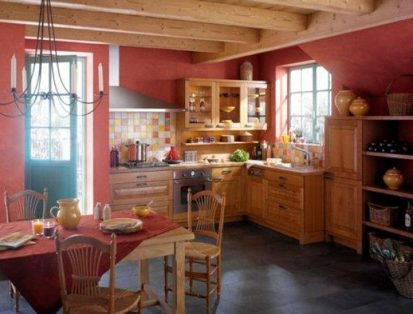 Кухни в деревенском стиле предполагают естественность