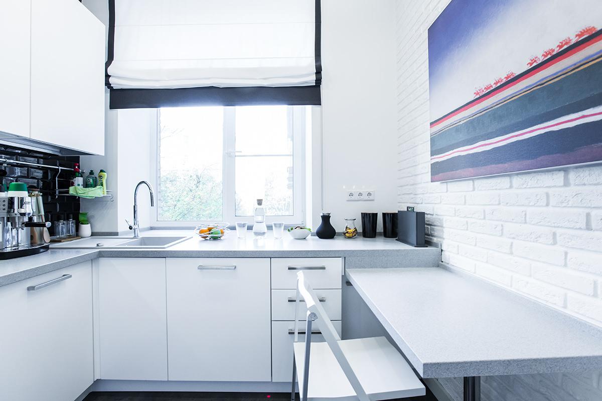 Мебель в скандинавском стиле для малогабаритной кухни