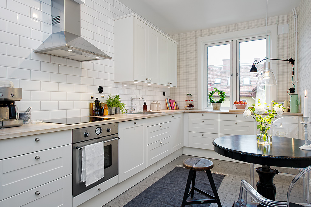 Мебель Икеа для кухни в скандинавском стиле