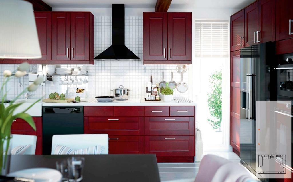 Кухонный гарнитур Икеа в стиле модерн