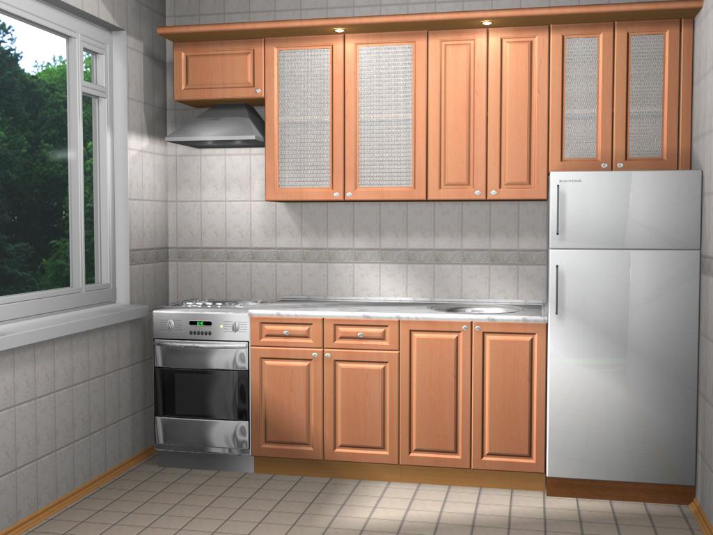 Модульная кухня в стиле минимализма из ДСП