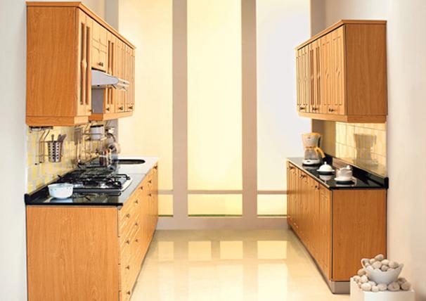 Кухонный двухрядный модульный гарнитур