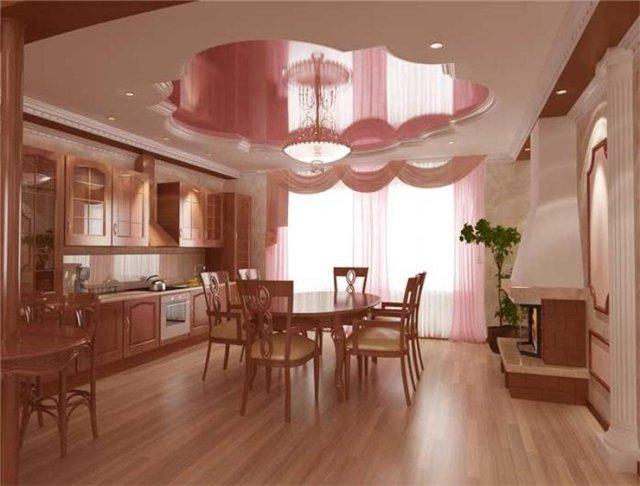 Комбинированный многоуровневый натяжной потолок