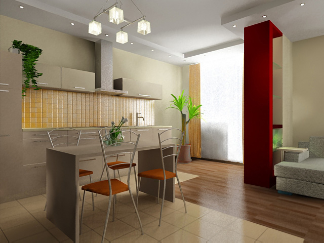 Матовый пленочный потолок - отличное решение для кухни