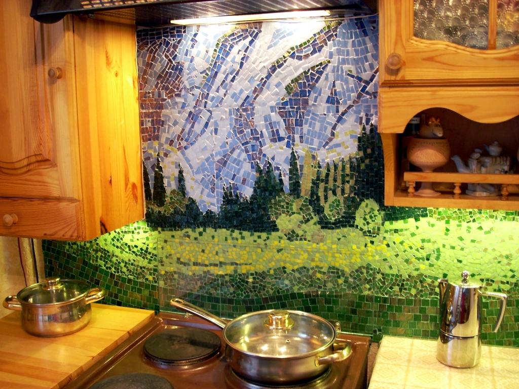 Мозаичное пано из керамической плитки