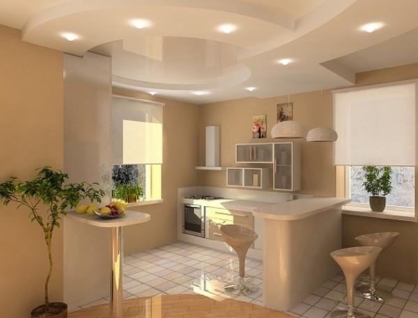 Двухуровневые потолки являются смелым и оригинальным дизайнерским решением