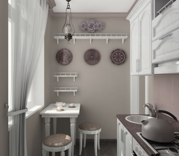 Маленькая кухня накладывает определенные ограничения на обустройство