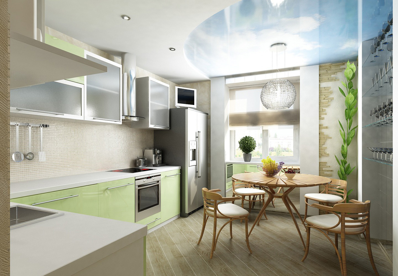 Дизайн кухни, совмещенной с балконом (36 фото): как соединит.