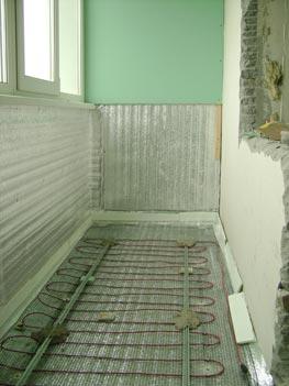 Теплый пол на одно из множества решений отопления балкона