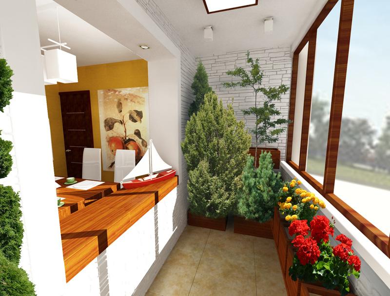 На лоджии можно развести настоящий зимний сад