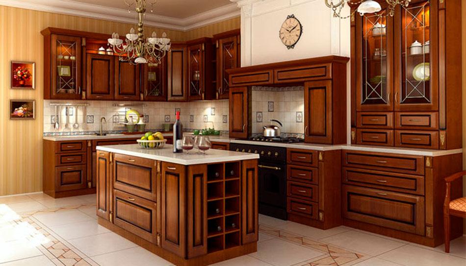 Для любителей готовить дома, лучшим вариантом будет оформление кухни по всем канонам.